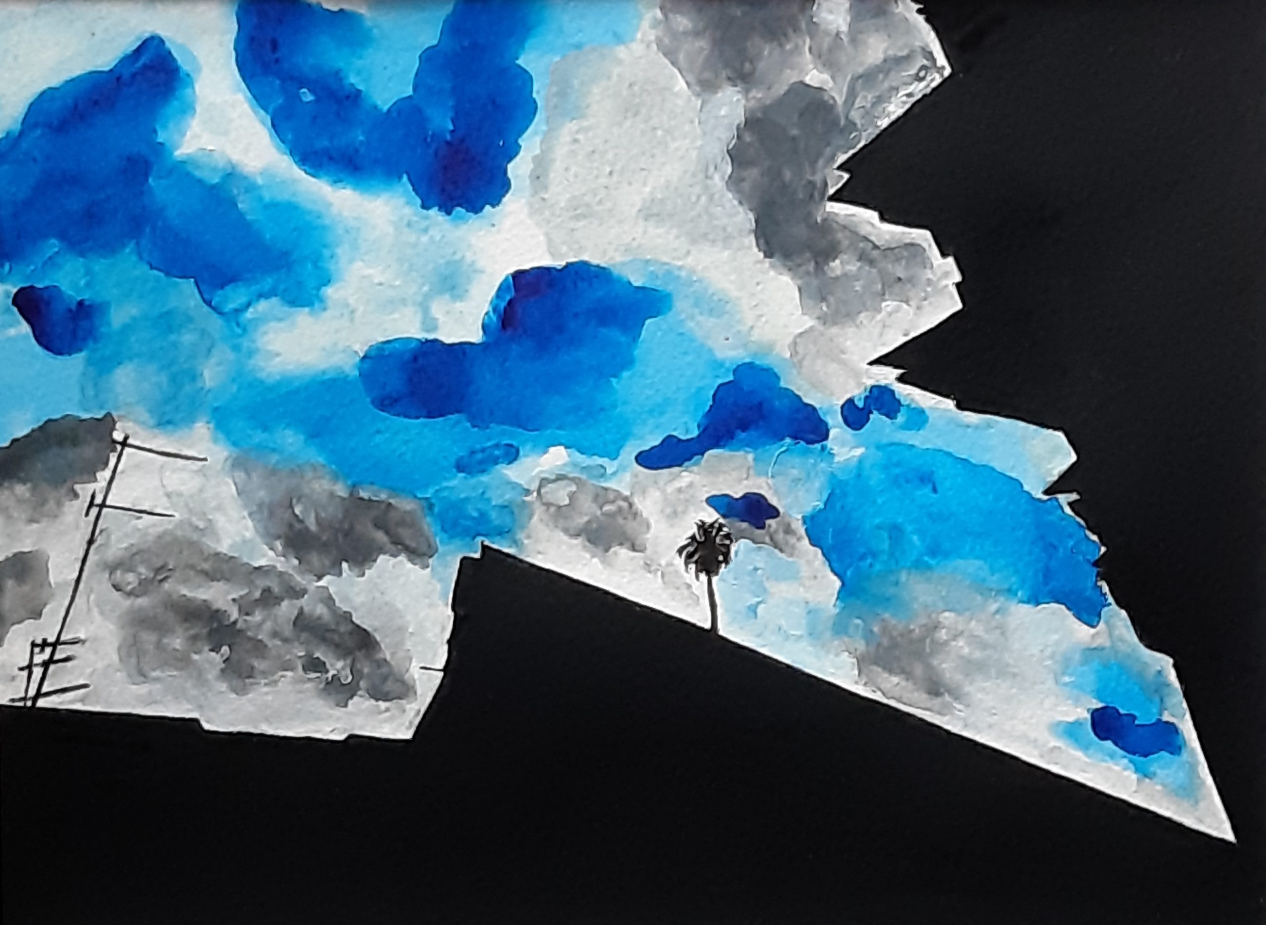 foto d'autore acquerello su cartoncino 24 x 32 cm 2019
