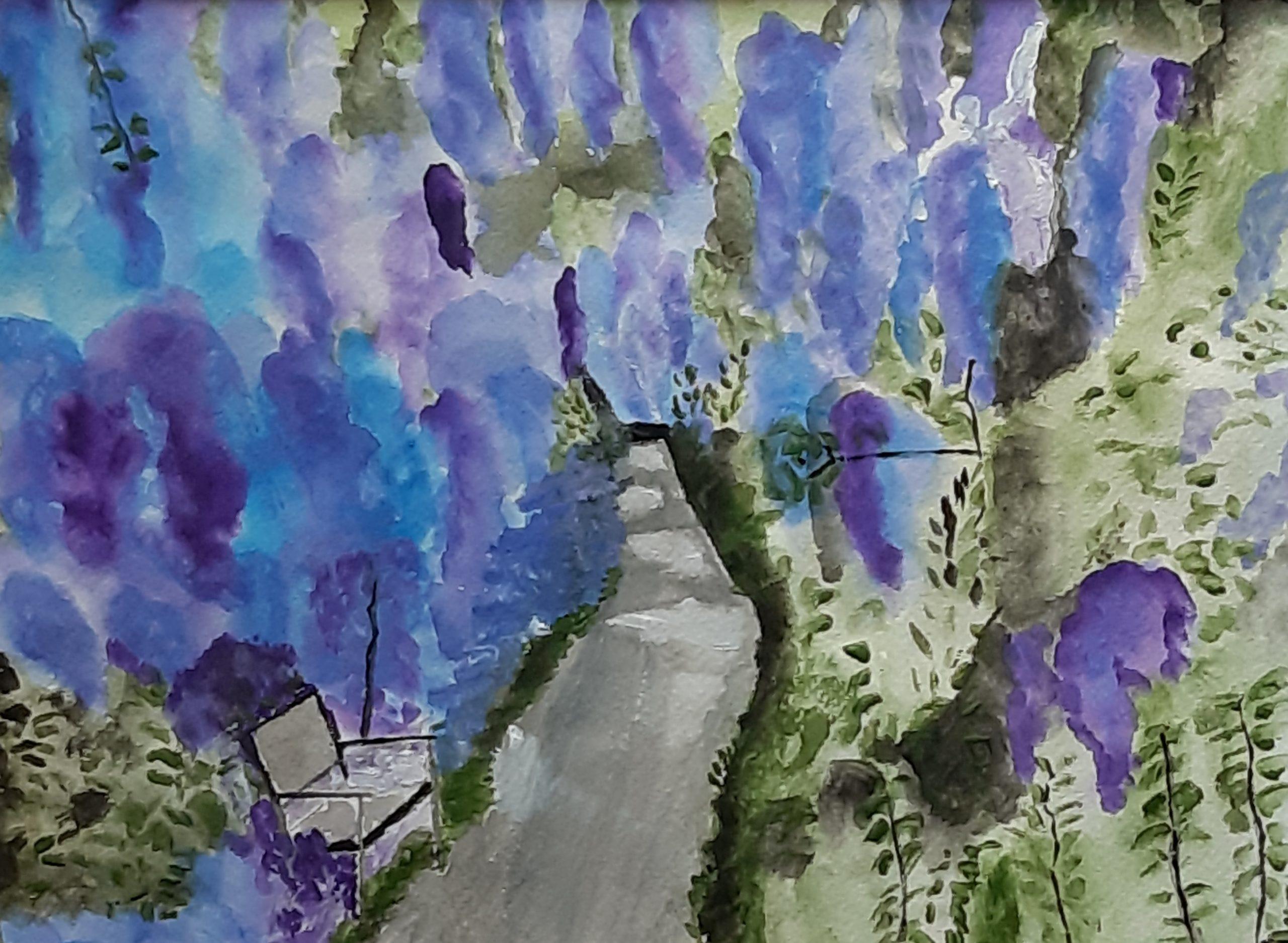 il giardino acquerello su cartoncino 24 x 32 cm 2019
