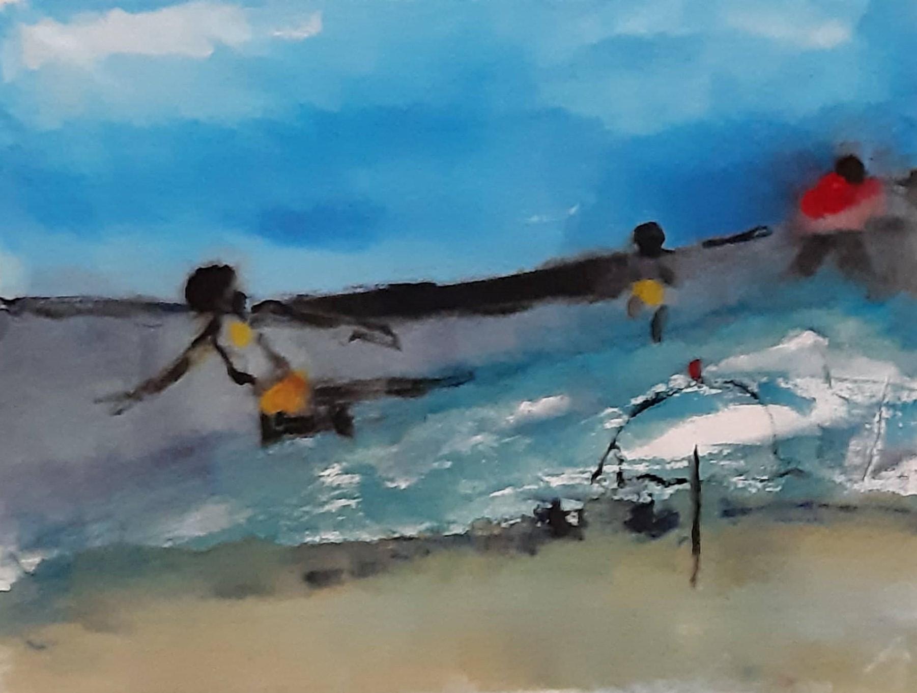 il mare acquerello su carta di riso 24 x 32 cm 2019