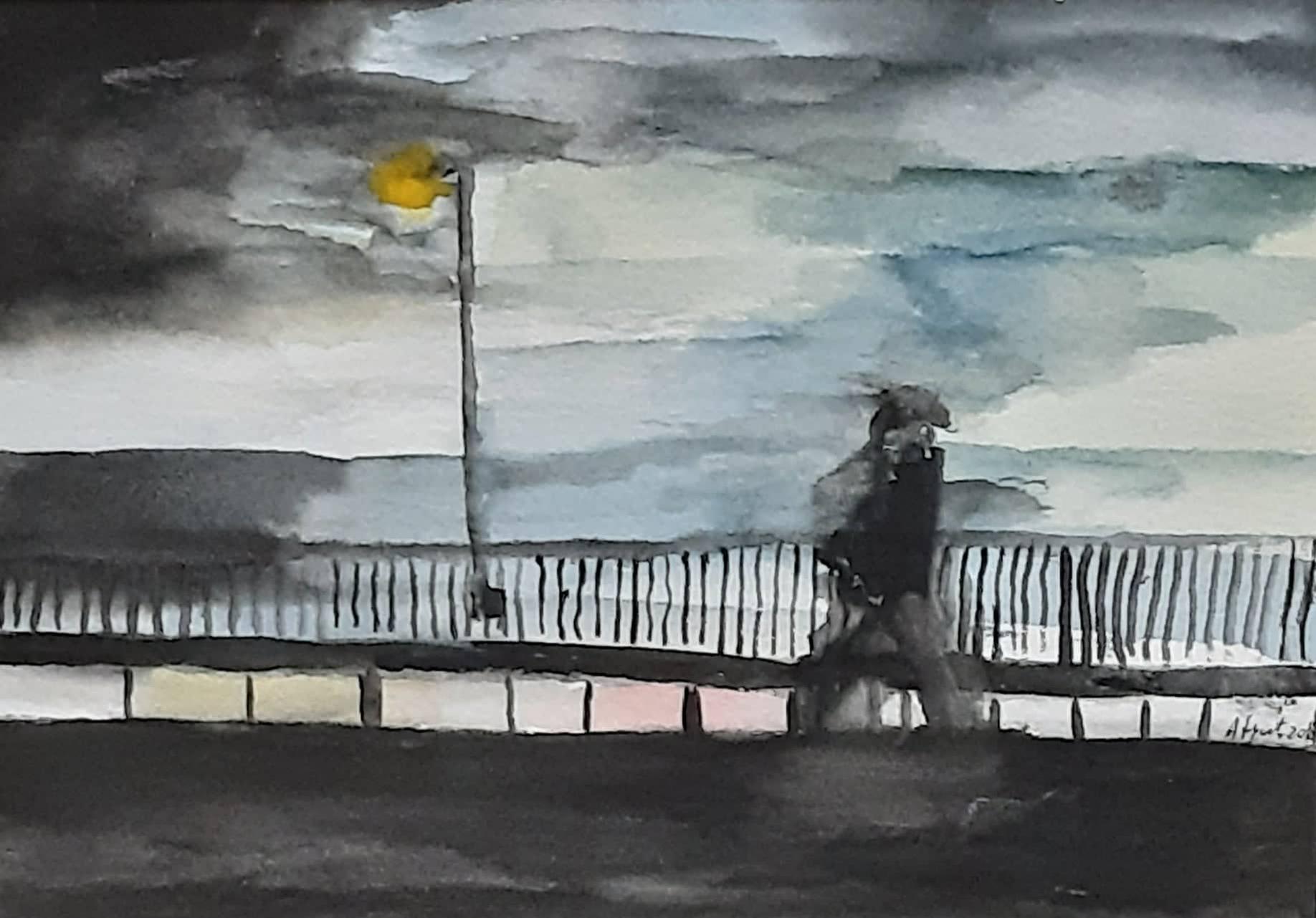 il passante acquerello su cartoncino 15 x 21 cm 2018