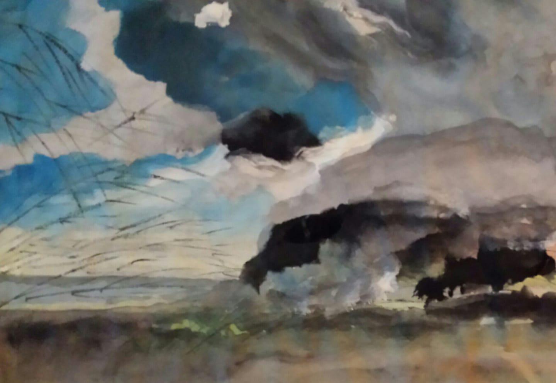 il vento acquerello su carta di riso 15 x 21 cm 2019