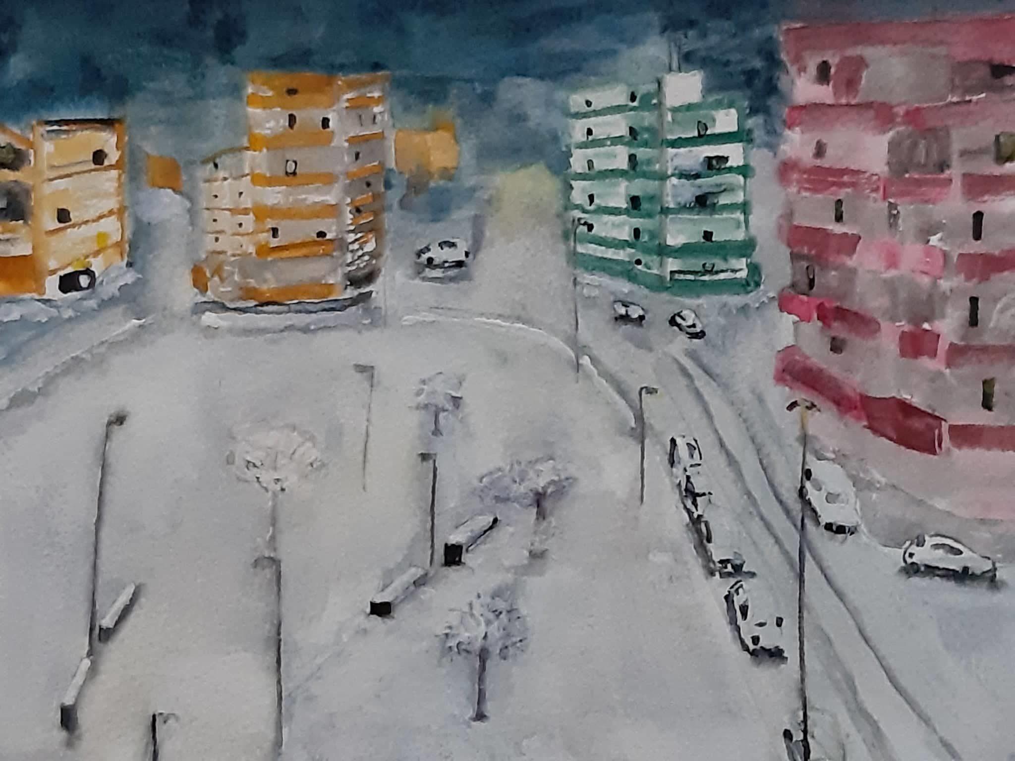 neve 167B di lecce acquerello su cartoncino 24 x 32 cm 2019