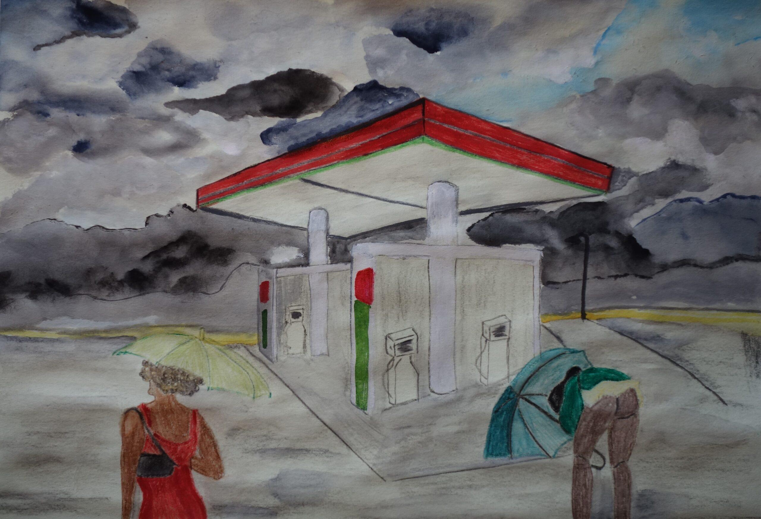 Olga & Olga 2021 - acquerello su carta di riso 31x44 cm